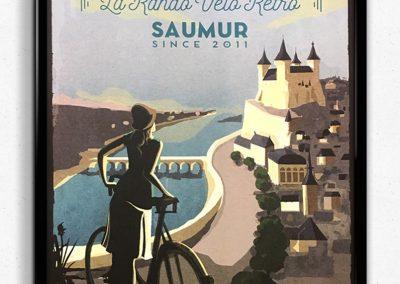 Affiche Anjou Vélo Vintage